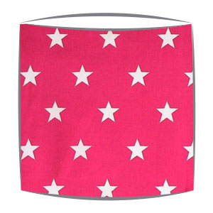 Star Print Drum Lampshade For Children in Hot Pink