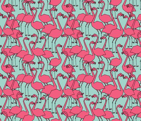 Turquoise-Flamingo-Fabric