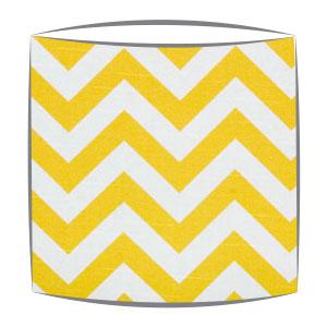 Yellow Chevron Zig Zag Fabric Drum Lampshade