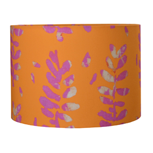 Bon Maison Acacia Fabric Lampshade in Orange