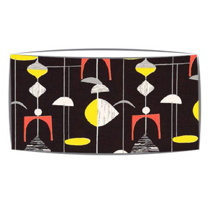 Large oversized lampshade in Sandersons Mobile fabric in black