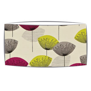 Extra Large oversized lampshade in Sandersons Dandelion Clocks fabric in blackcurrant