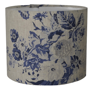 Cabbages & Roses Constance 20cm x 16cm lampshade in blue