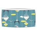 Large oversized lampshade in Sandersons Mobile fabric in slate