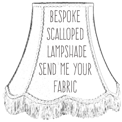 Bespoke lampsahde, traditional scalloped shape in your fabric