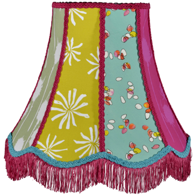 Traditional lampshade in Bon Maison fabrics