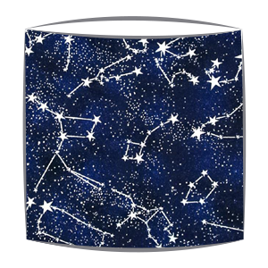 Glow in the dark stars fabric lampshade
