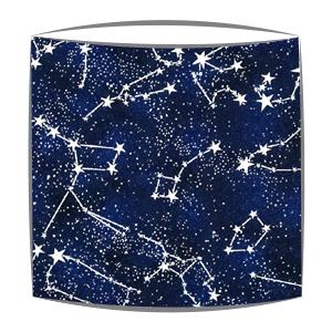 Glow in the dark stars fabric lampshade