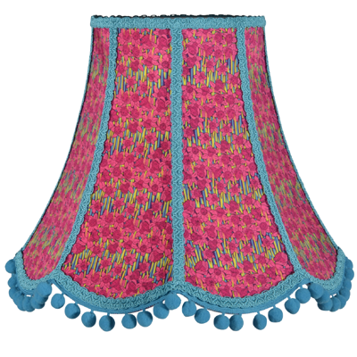 Traditional scalloped lampshade in Liberty fabric