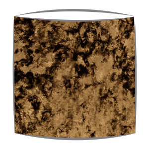 Crushed Velvet Lampshade in Gold